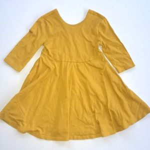Old Navy mustard yellow swing dress size 4t